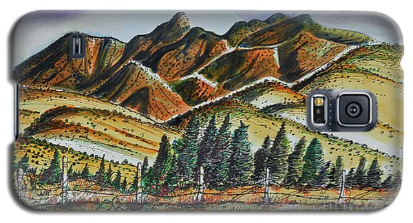 Galaxy S5 Case featuring the painting New Mexico Back Country by Terry Banderas