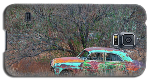 Galaxy S5 Case featuring the photograph New Mexico Blue by Carolyn Dalessandro
