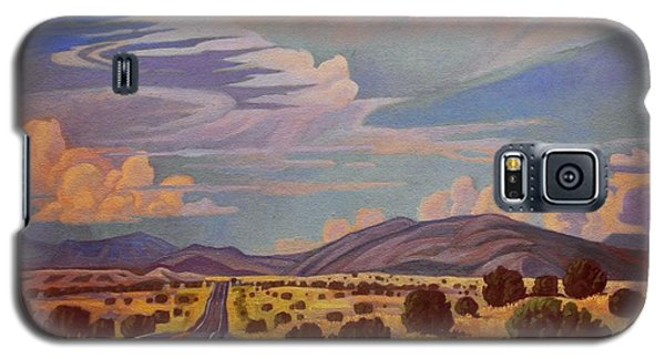 Galaxy S5 Case featuring the painting New Mexico Cloud Patterns by Art James West