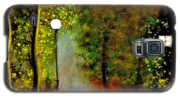 Galaxy S5 Case featuring the painting New Moon... by Cristina Mihailescu