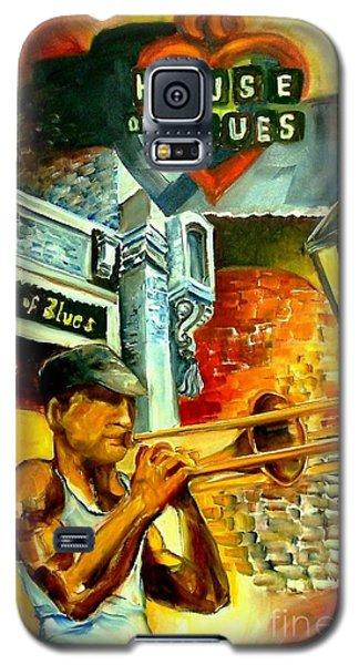 Trombone Galaxy S5 Case - New Orleans' House Of Blues by Diane Millsap