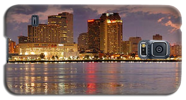 City Sunset Galaxy S5 Case - New Orleans Skyline At Dusk by Jon Holiday