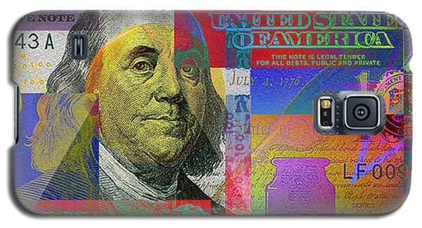 Still Life Galaxy S5 Case - New Pop-colorized One Hundred Us Dollar Bill by Serge Averbukh