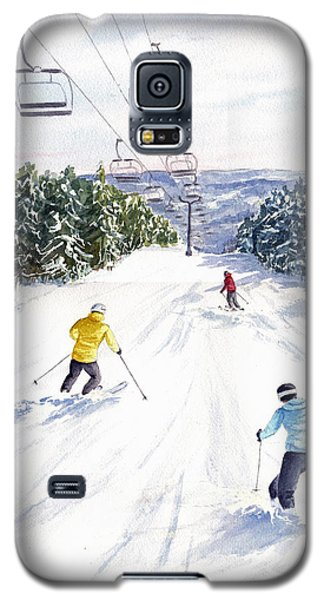 Galaxy S5 Case featuring the painting New Snow by Vikki Bouffard