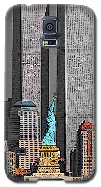 New York 911 Memory - Twin Towers And Statue Of Liberty Galaxy S5 Case