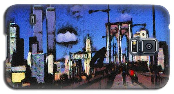 New York Blue - Modern Art Painting Galaxy S5 Case