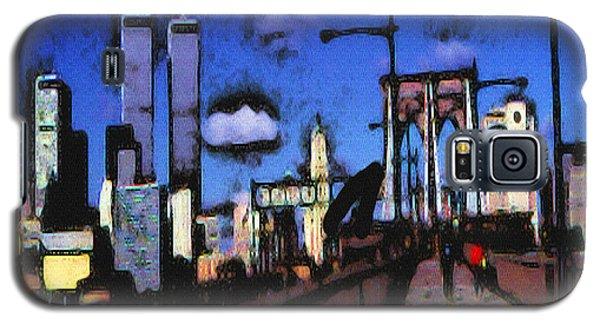 New York Blue - Modern Art Galaxy S5 Case
