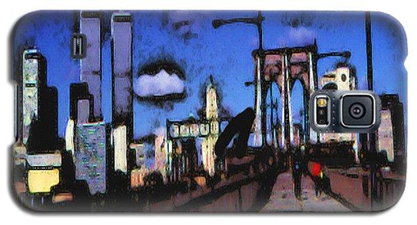New York Blue - Modern Art Galaxy S5 Case by Art America Gallery Peter Potter