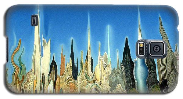New York City Skyline 2100 - Modern Artwork Galaxy S5 Case