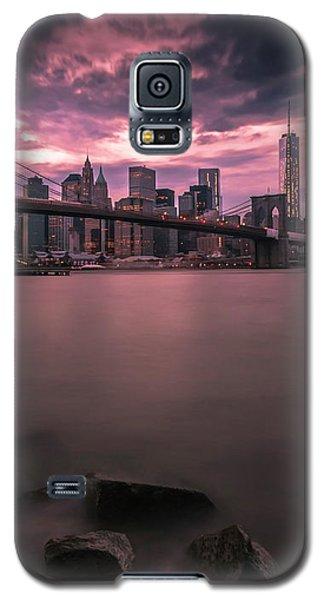 New York City Brooklyn Bridge Sunset Galaxy S5 Case