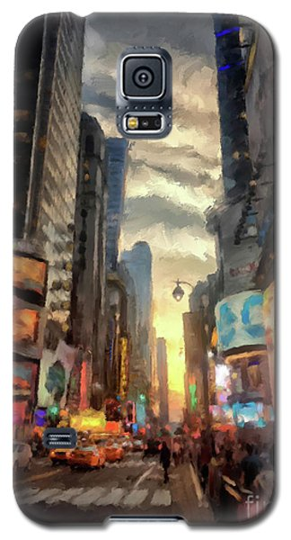 Galaxy S5 Case featuring the photograph New York City Lights by Lois Bryan