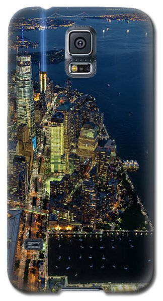 Galaxy S5 Case featuring the photograph New York City Remembers 911 by Susan Candelario