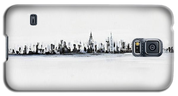 New York City Skyline Black And White Galaxy S5 Case