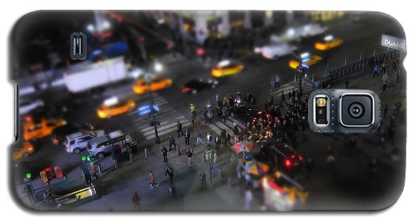 Times Square Galaxy S5 Case - New York City Street Miniature by Nicklas Gustafsson