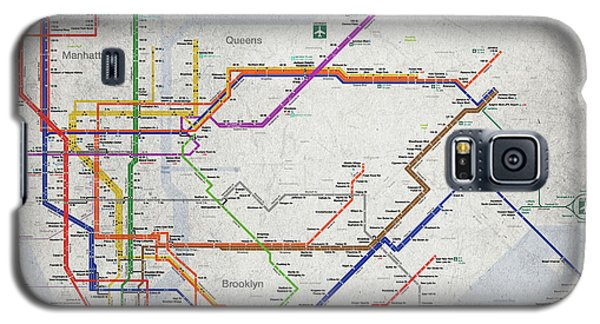 New York City Subway Map Galaxy S5 Case