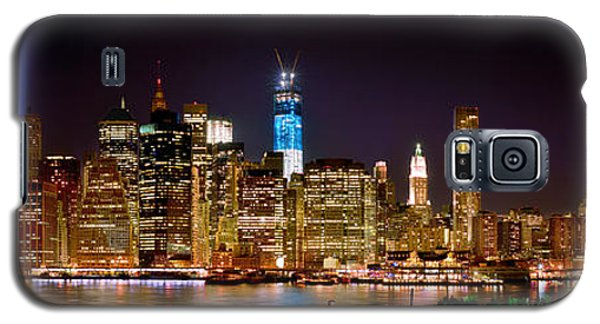 Skylines Galaxy S5 Case - New York City Tribute In Lights And Lower Manhattan At Night Nyc by Jon Holiday