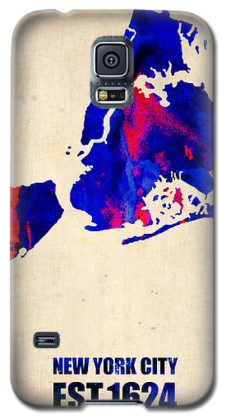 New York City Watercolor Map 1 Galaxy S5 Case by Naxart Studio