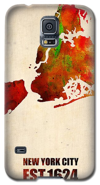 New York City Watercolor Map 2 Galaxy S5 Case by Naxart Studio