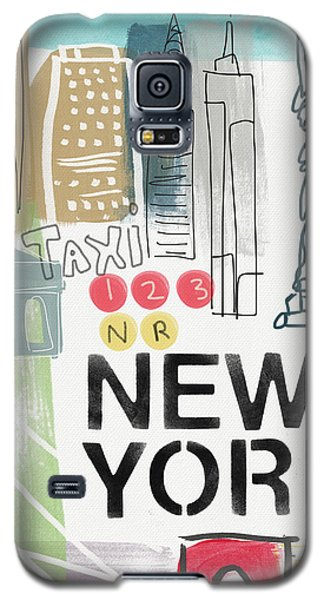 New York Cityscape- Art By Linda Woods Galaxy S5 Case by Linda Woods
