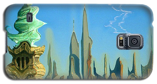 New York Fantasy Skyline - Modern Artwork Galaxy S5 Case