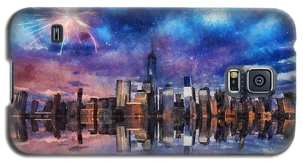 Galaxy S5 Case featuring the photograph New York Fireworks by Ian Mitchell