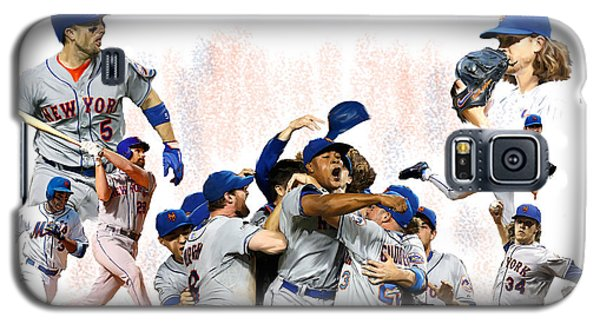 Galaxy S5 Case featuring the painting New York Mets 2015  Metropolitan Champions by Iconic Images Art Gallery David Pucciarelli