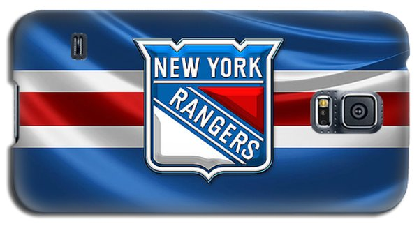 New York Rangers - 3d Badge Over Flag Galaxy S5 Case