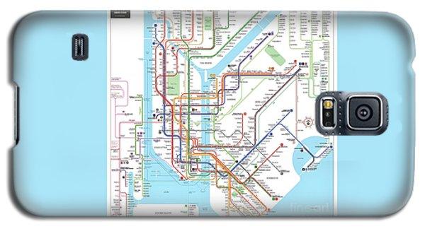 New York Subway Map Galaxy S5 Case