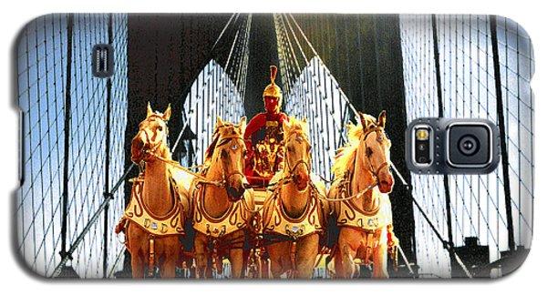 New York Brooklyn Bridge Fantasy Collage Galaxy S5 Case