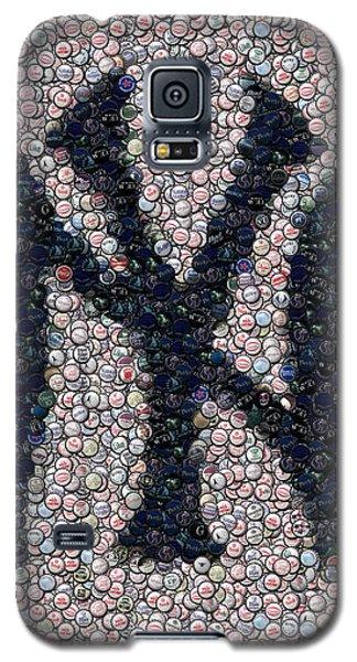New York Yankees Bottle Cap Mosaic Galaxy S5 Case