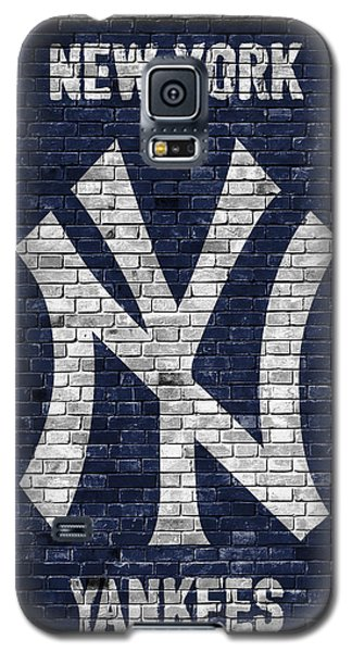 Bat Galaxy S5 Case - New York Yankees Brick Wall by Joe Hamilton