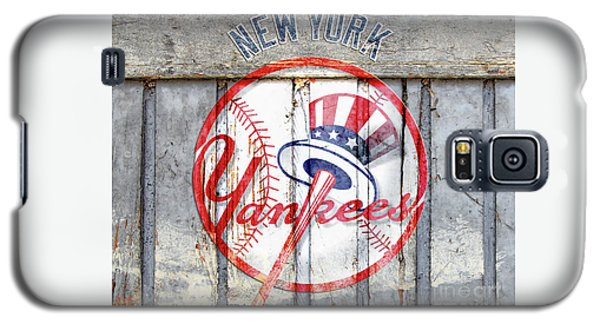 New York Yankees Top Hat Rustic Galaxy S5 Case