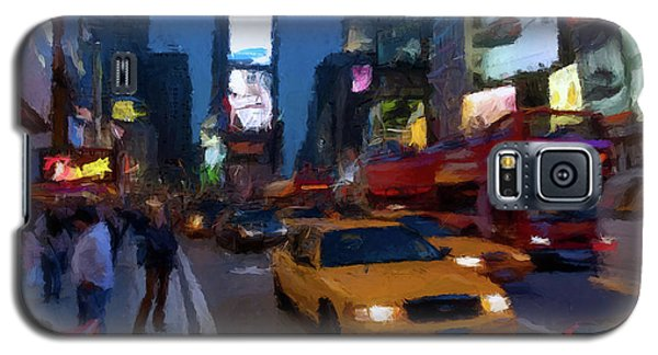 Galaxy S5 Case featuring the painting New York Yellow Cab by David Dehner