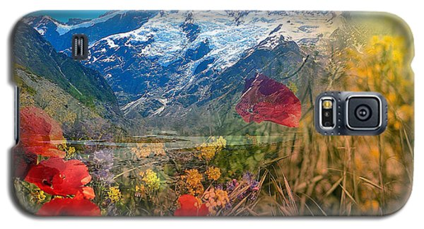 New Zealand Southern Alps Montage Galaxy S5 Case
