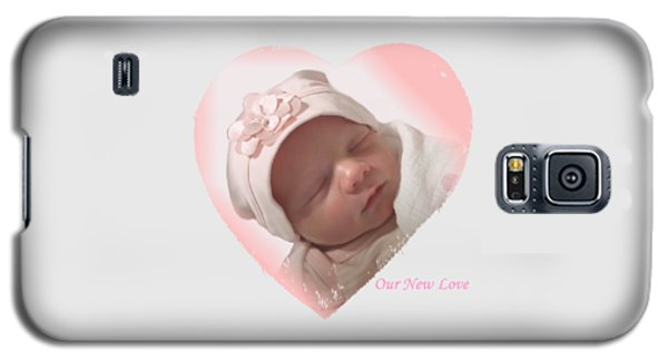 Newborn Pink Heart Galaxy S5 Case