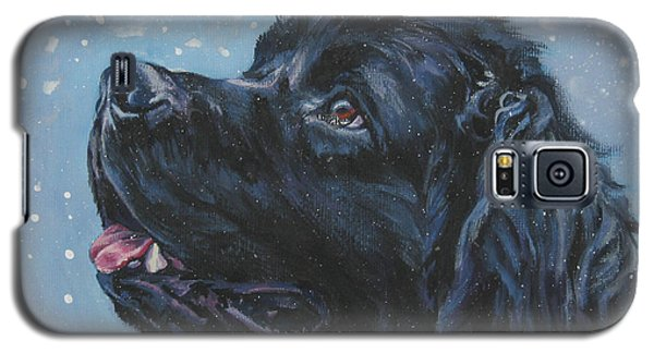 Newfoundland In Snow Galaxy S5 Case