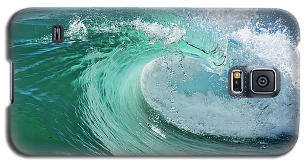 Galaxy S5 Case featuring the photograph Newport Beach Wave Curl by Eddie Yerkish