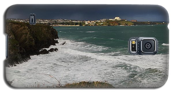 Galaxy S5 Case featuring the photograph Newquay Squalls On Horizon by Nicholas Burningham