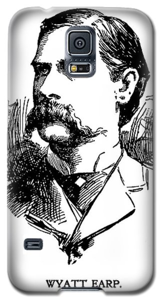 Galaxy S5 Case featuring the mixed media Newspaper Image Of Wyatt Earp 1896 by Daniel Hagerman