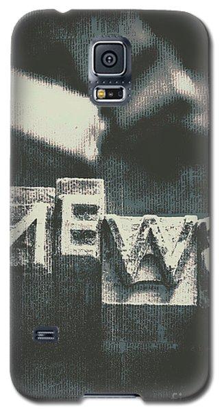 Newspaper Printing Press Art Galaxy S5 Case