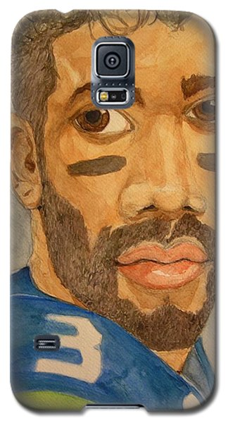 Galaxy S5 Case featuring the painting New School Football Seattle by Rand Swift