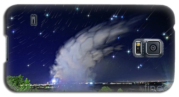 Galaxy S5 Case featuring the photograph Niagara Falls Rising Mist Under Starry Sky by Charline Xia