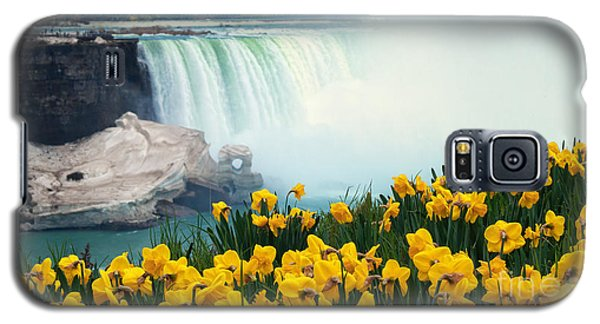 Niagara Falls Spring Flowers And Melting Ice Galaxy S5 Case by Charline Xia