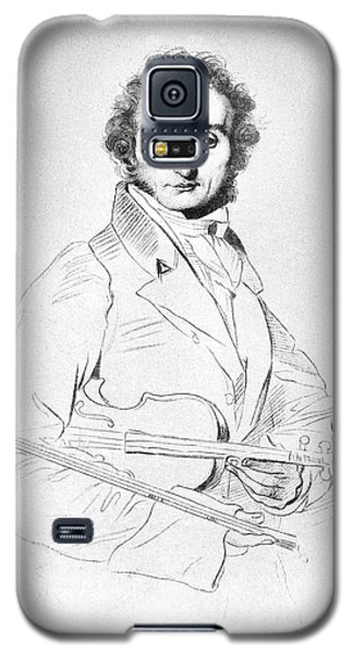 Violin Galaxy S5 Case - Nicolo Paganini (1782-1840) by Granger