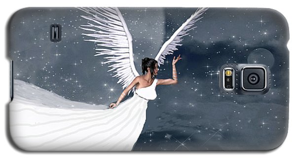 Night Angel Galaxy S5 Case by Rosalie Scanlon