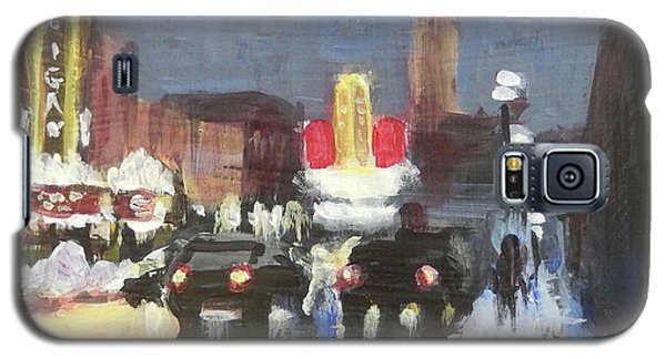 Night Around Michigan Theater Galaxy S5 Case by Yoshiko Mishina