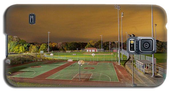 Night At The High School Basketball Court Galaxy S5 Case