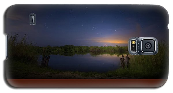 Night Brush Fire In The Everglades Galaxy S5 Case by Mark Andrew Thomas