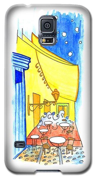 Night Cafe Exterior Galaxy S5 Case