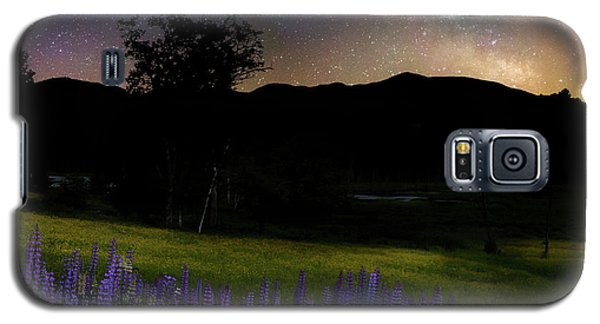 Galaxy S5 Case featuring the photograph Night Flowers Square by Bill Wakeley
